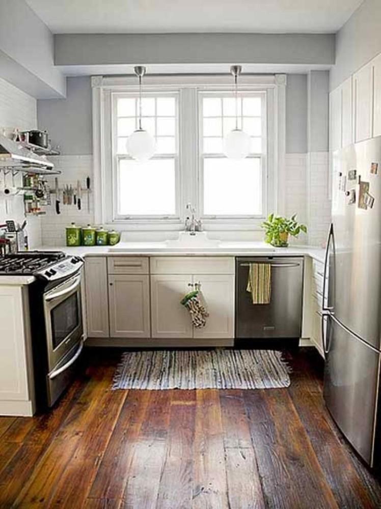 Кухня в цветах: серый, светло-серый, белый, темно-коричневый, коричневый. Кухня в стиле кантри.