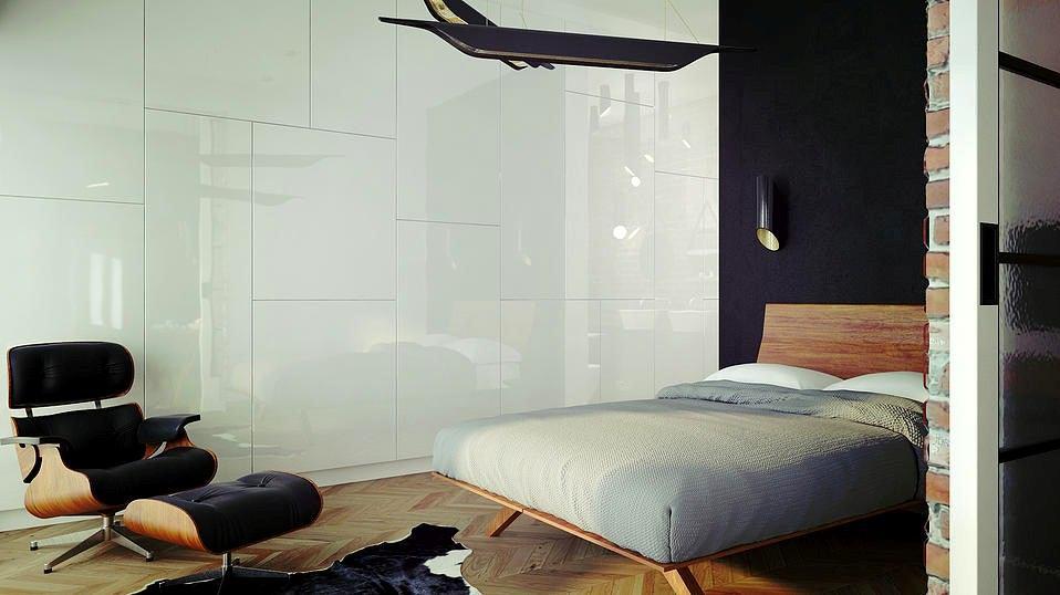 Мебель и предметы интерьера в цветах: черный, серый, светло-серый, белый, коричневый. Мебель и предметы интерьера в стилях: минимализм, хай-тек, неоклассика.