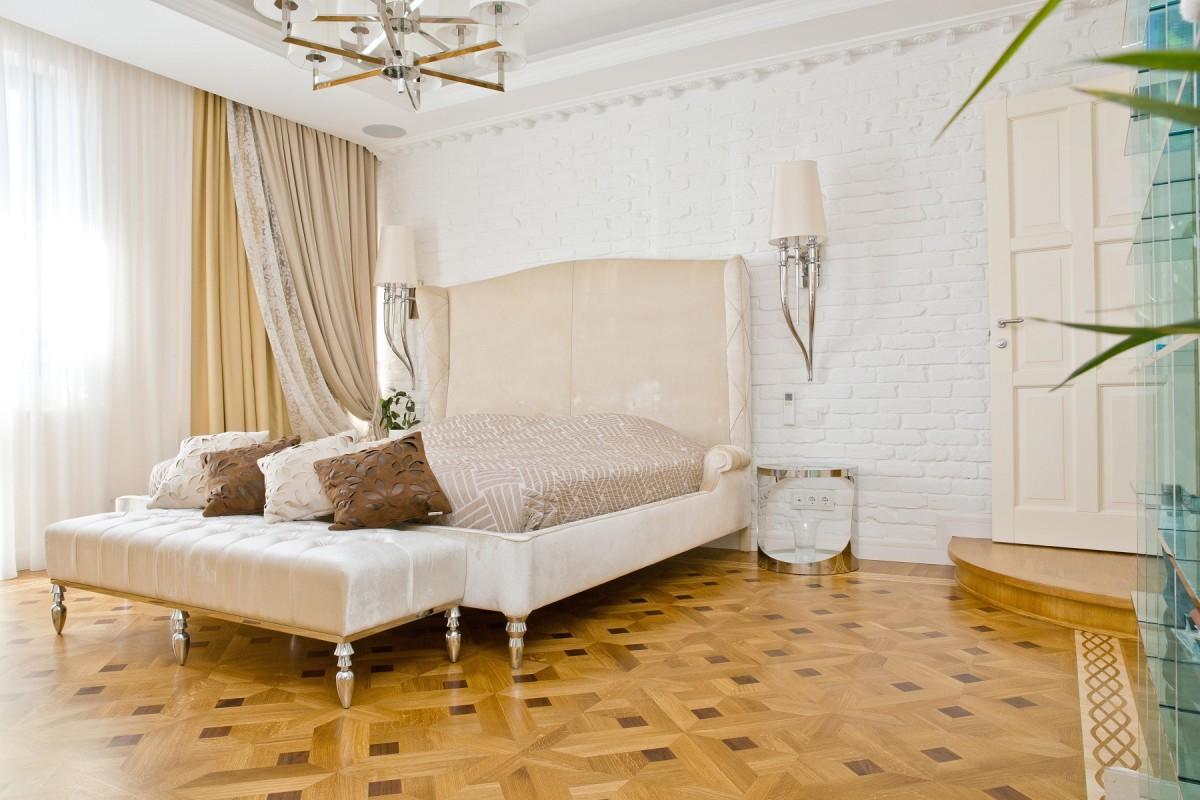 Спальня в цветах: желтый, серый, светло-серый, коричневый, бежевый. Спальня в стилях: классика, лофт.