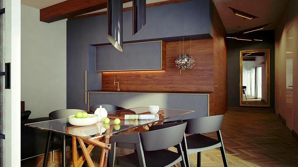 Мебель и предметы интерьера в цветах: черный, серый, салатовый, темно-коричневый, коричневый. Мебель и предметы интерьера в стилях: минимализм, хай-тек.
