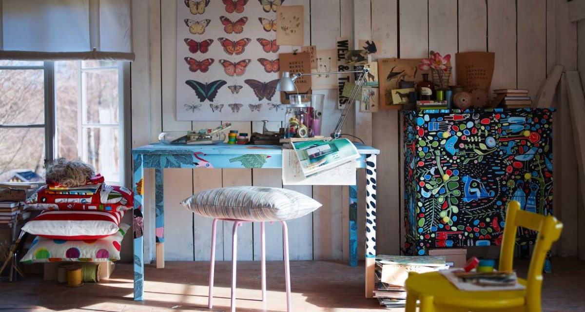 Мебель и предметы интерьера в цветах: бирюзовый, белый, лимонный, бежевый. Мебель и предметы интерьера в стилях: эклектика.