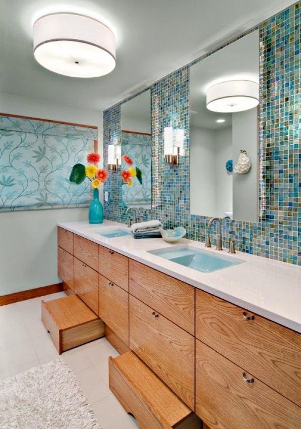 Мебель и предметы интерьера в цветах: бирюзовый, серый, светло-серый, сине-зеленый, бежевый. Мебель и предметы интерьера в стиле эклектика.