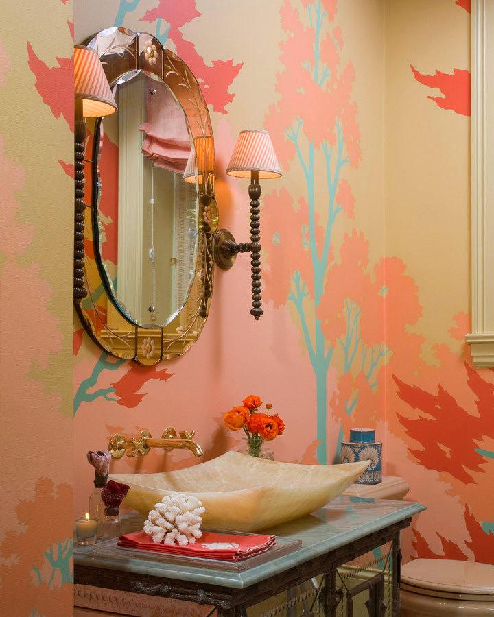 Декор в ванной комнате фото своими руками